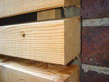 Holzfassaden mit offener Schalung