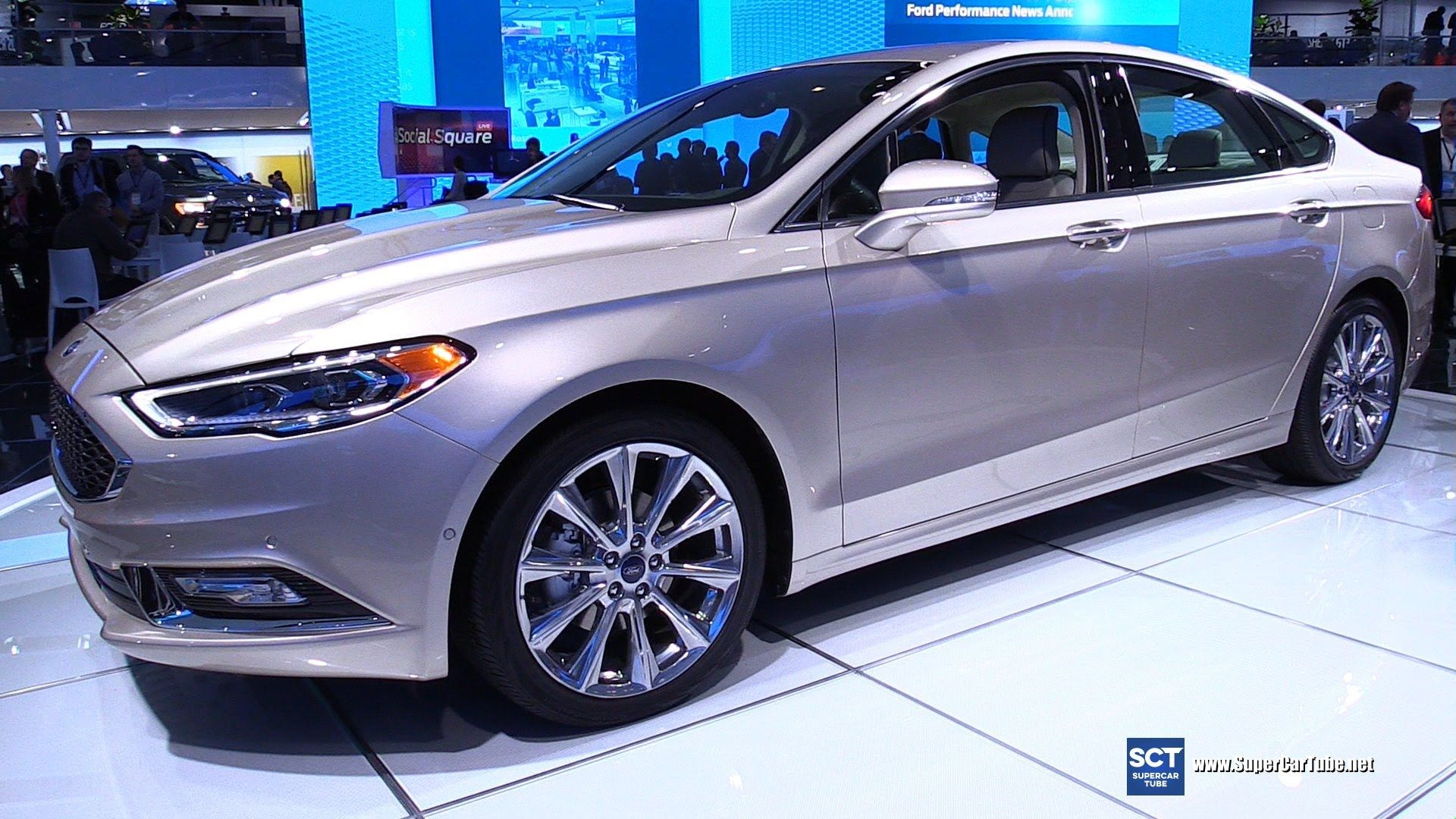 2017 Ford Fusion Platinum Exterior And Interior Walkaround Debut At 2016 Detroit Auto Ford Fusion Europe Car New Cars