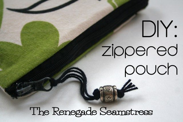 Easy zippered pouch tutorial.  I LOVE this -- she fashioned the size around a repurposed zipper.  Nice tutorial