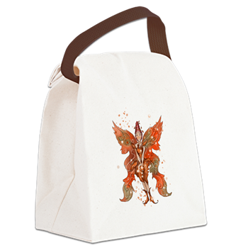 Canvas Lunch Bag www.teeliesfairygarden.com Don't leave home without this handy Canvas Lunch Bag. #fairylunchbag