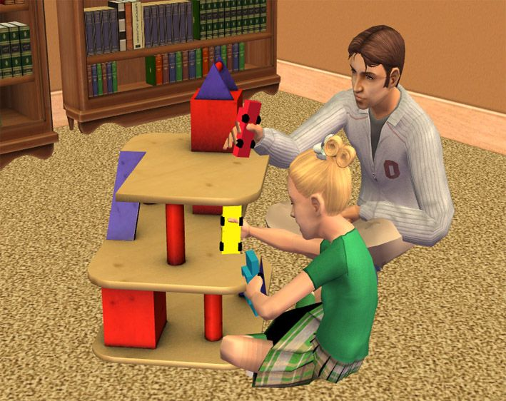 Mod The Sims - Skill Building Toy Garage | Sims 2 - Kids