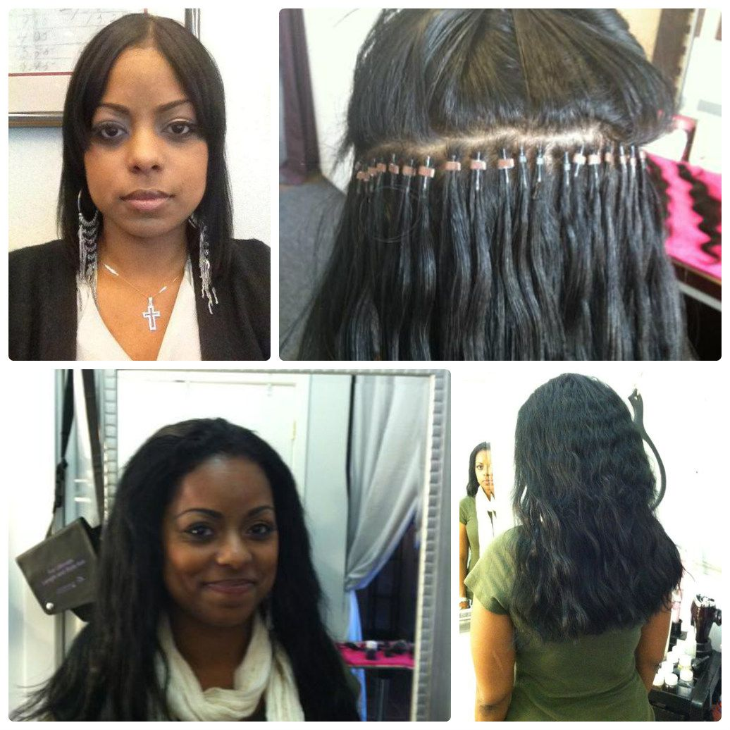Hairextensions Hair Micro Ringloop Hair Extensions Applied By Our