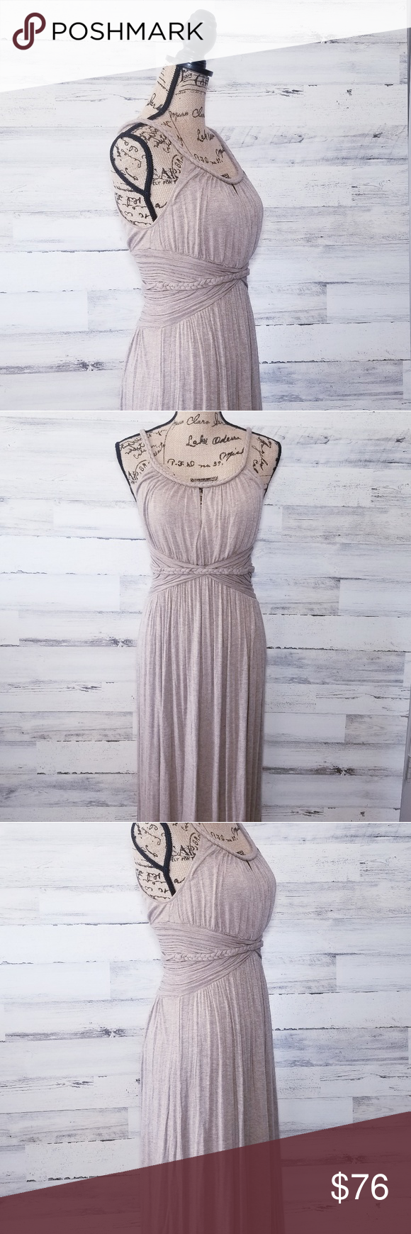 Max Studio Maxi Dress Tan Dresses Maxi Dress Max Studio Dress [ 1740 x 580 Pixel ]