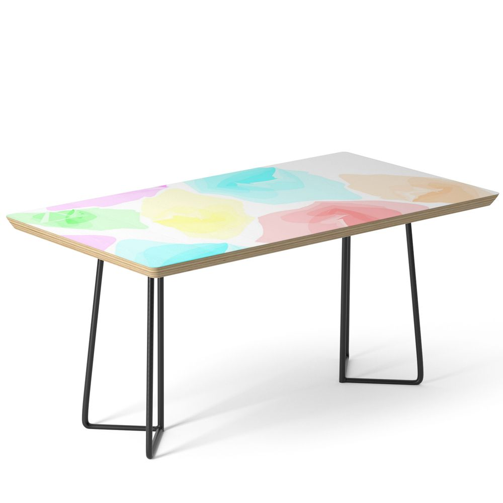 Colorful Aqua Coffee Table By Aliensrich Coffee Table Birch