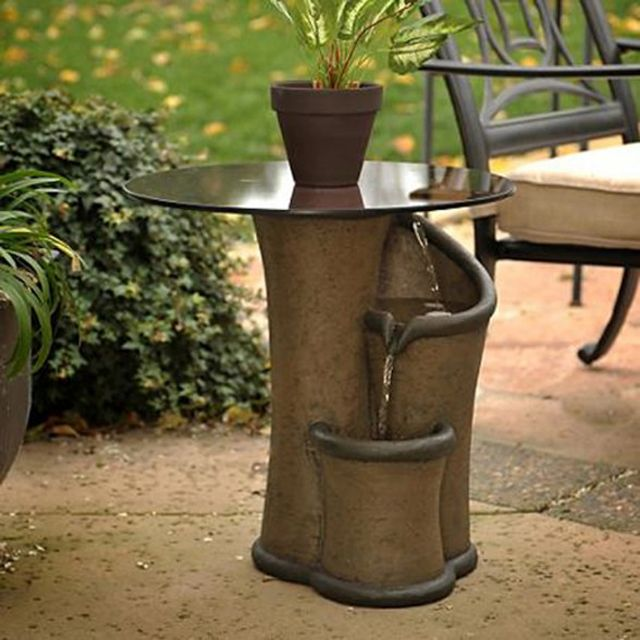 Unique Patios And Back Yards Pictures Contemporary Zen Outdoor Fountain Ideas With Sma Water Fountains Outdoor Contemporary Garden Furniture Outdoor Fountain