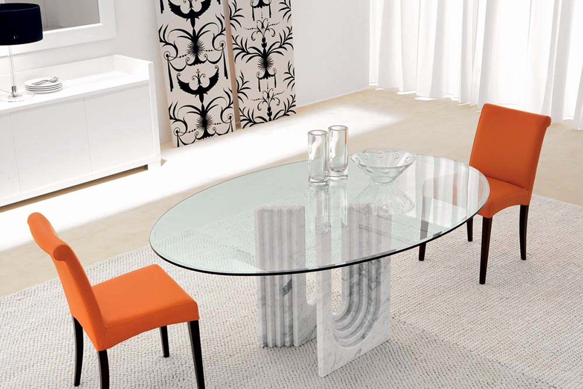 Oval Glass Dining Room Table Best Of Moa Oval Glass Dining Table