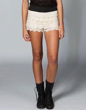 FULL TILT Crochet Tiered Womens Shorts $22.99