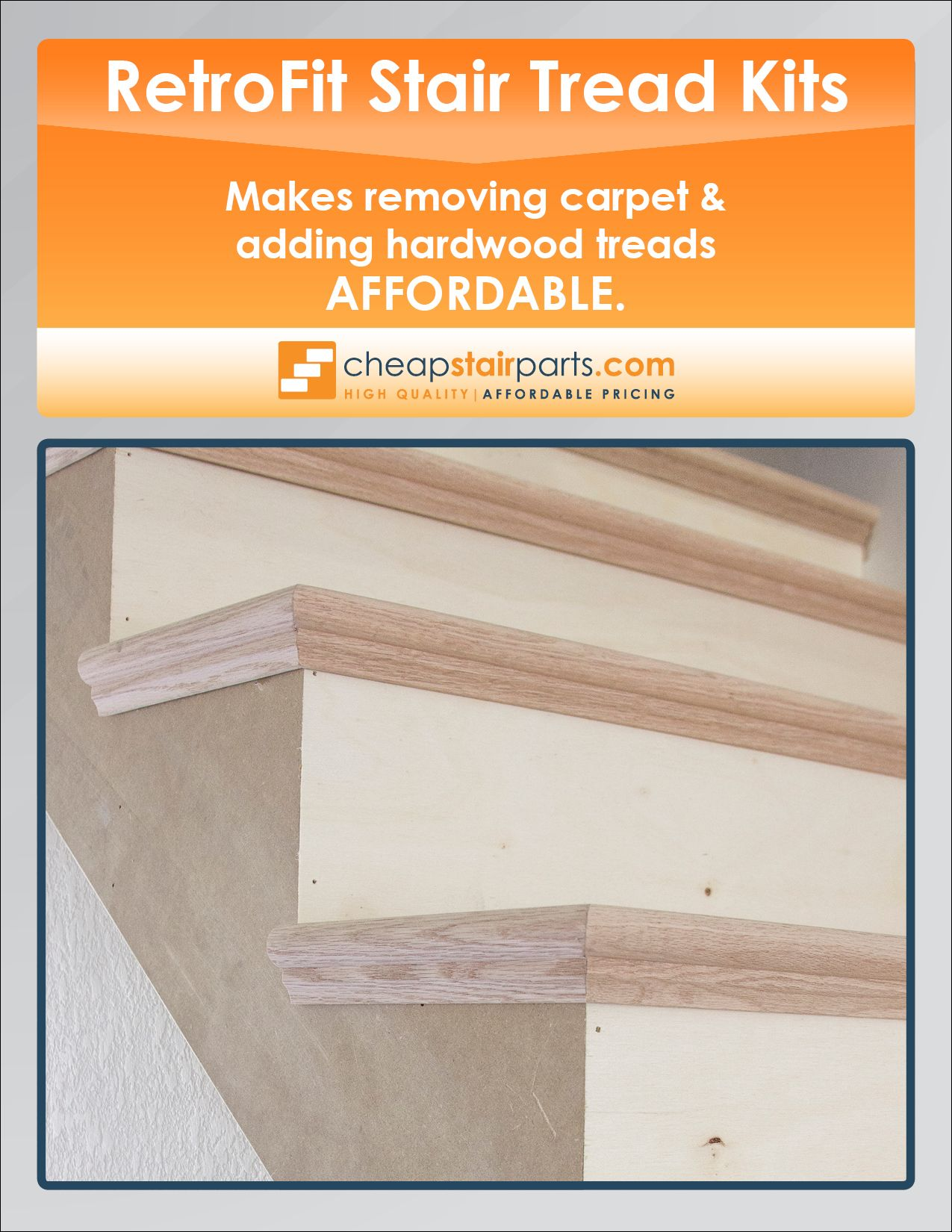 Pin By Cheap Stair Parts On RetroFit Stair Tread Kits | Pinterest | Stairs, Stair  Treads And Kit