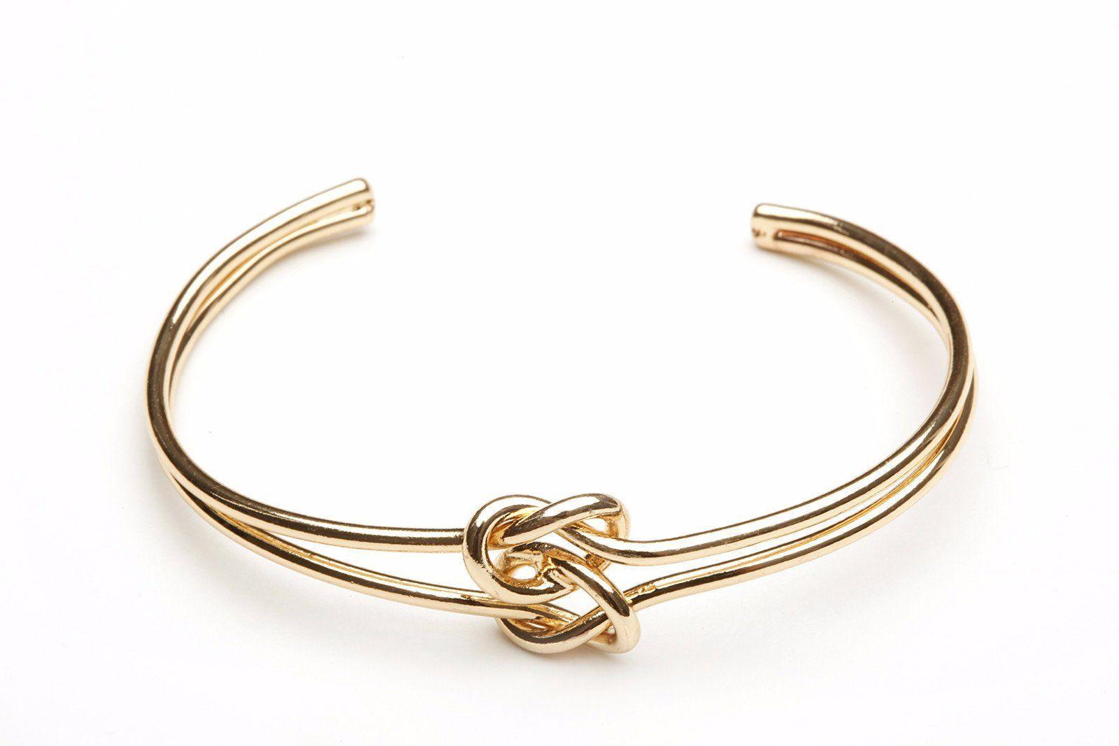 Gold Double Tie The Knot Bracelet Bridesmaid Bracelet Gift