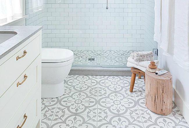 Des sols originaux pour la salle de bain Bathroom cabinets