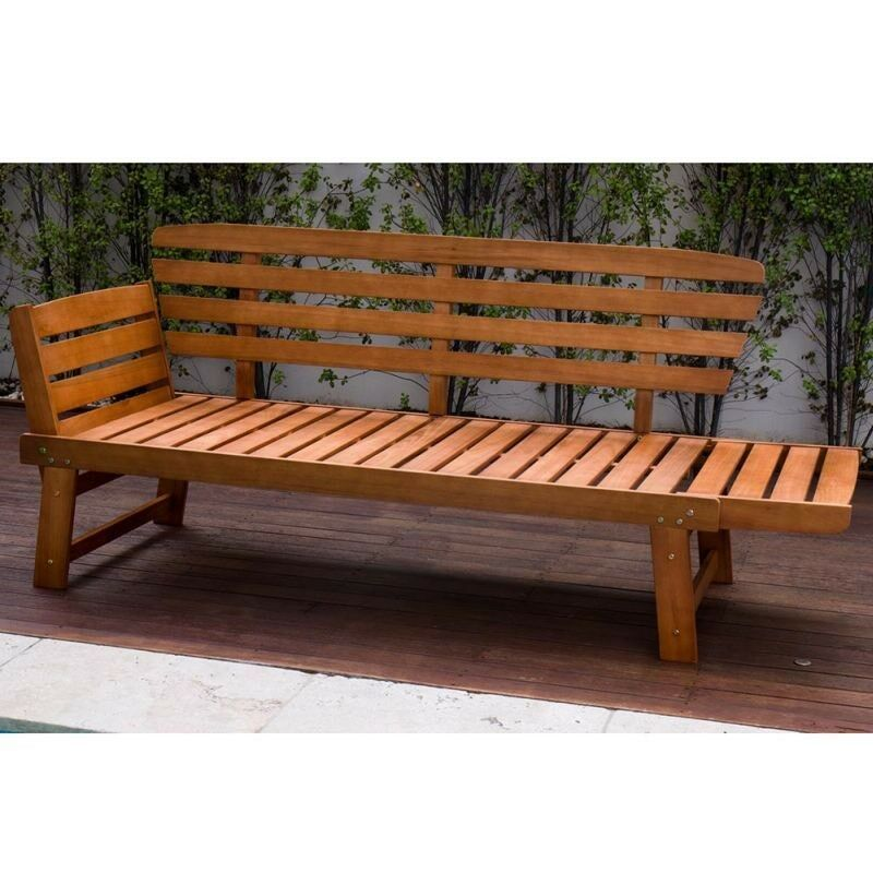 New Outdoor Timber Sun Lounge Daybed Bench Seat Lounging