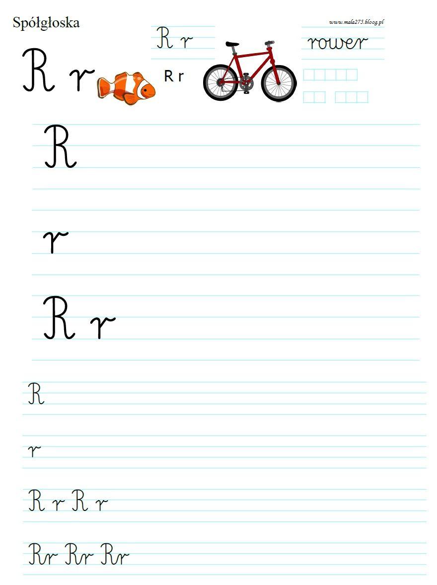 Blog Edukacyjny Dla Dzieci Literka R Polish Language Education Worksheets For Kids
