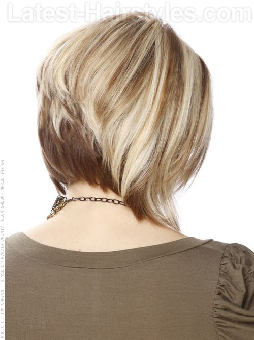 Blond Moyen Bob - Stacked - View 2
