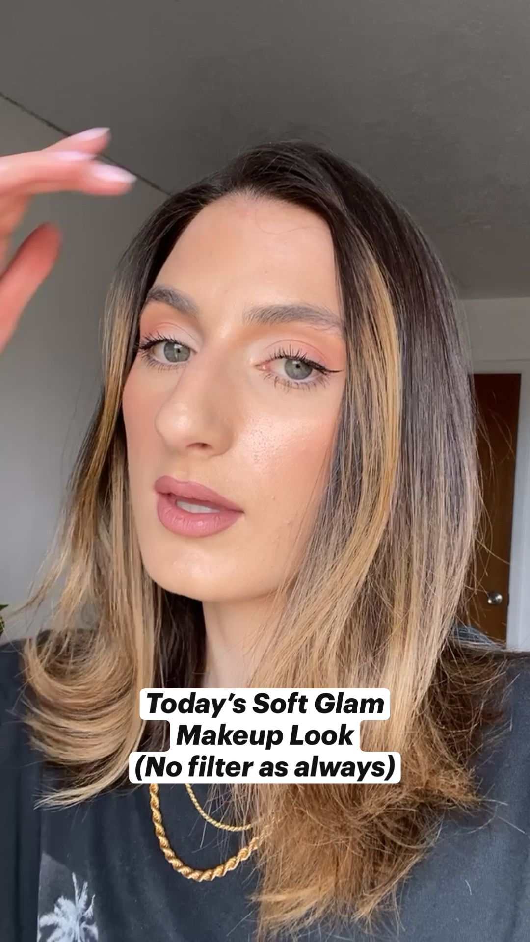 Soft Glam Pink Peachy Makeup Look by Haley Ivers @haleyivers