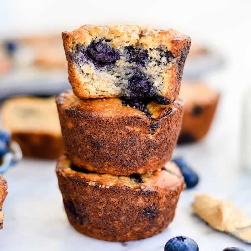 Paleo Blueberry Banana Muffins Taste Just Like A Bakery Muffin But