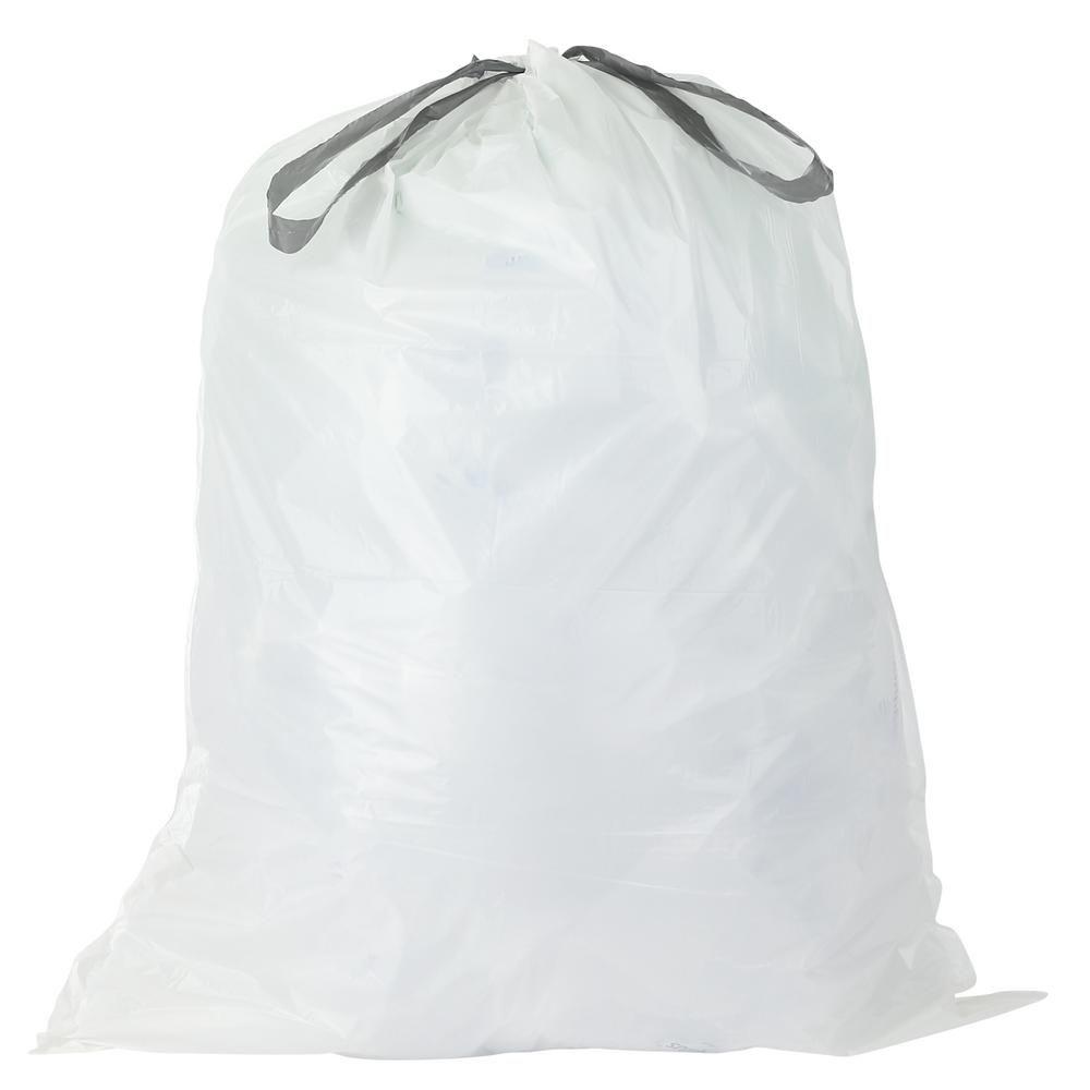 Plasticplace 15 Gal White Drawstring Kitchen Trash Bags Case Of 200 Bags Kitchen Garbage Bags Bags Trash Bag