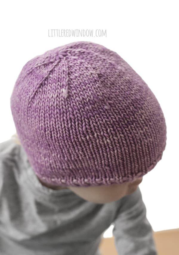 Easy Knit Flat Baby Hat Knitting Pattern | Baby hat knitting pattern ...