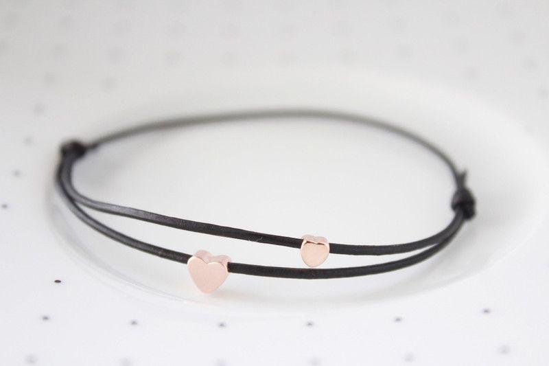 ♥einfach+so♥+Armband+roségold+matt+und+glänzend+von+einfach♥fein+auf+DaWanda.com