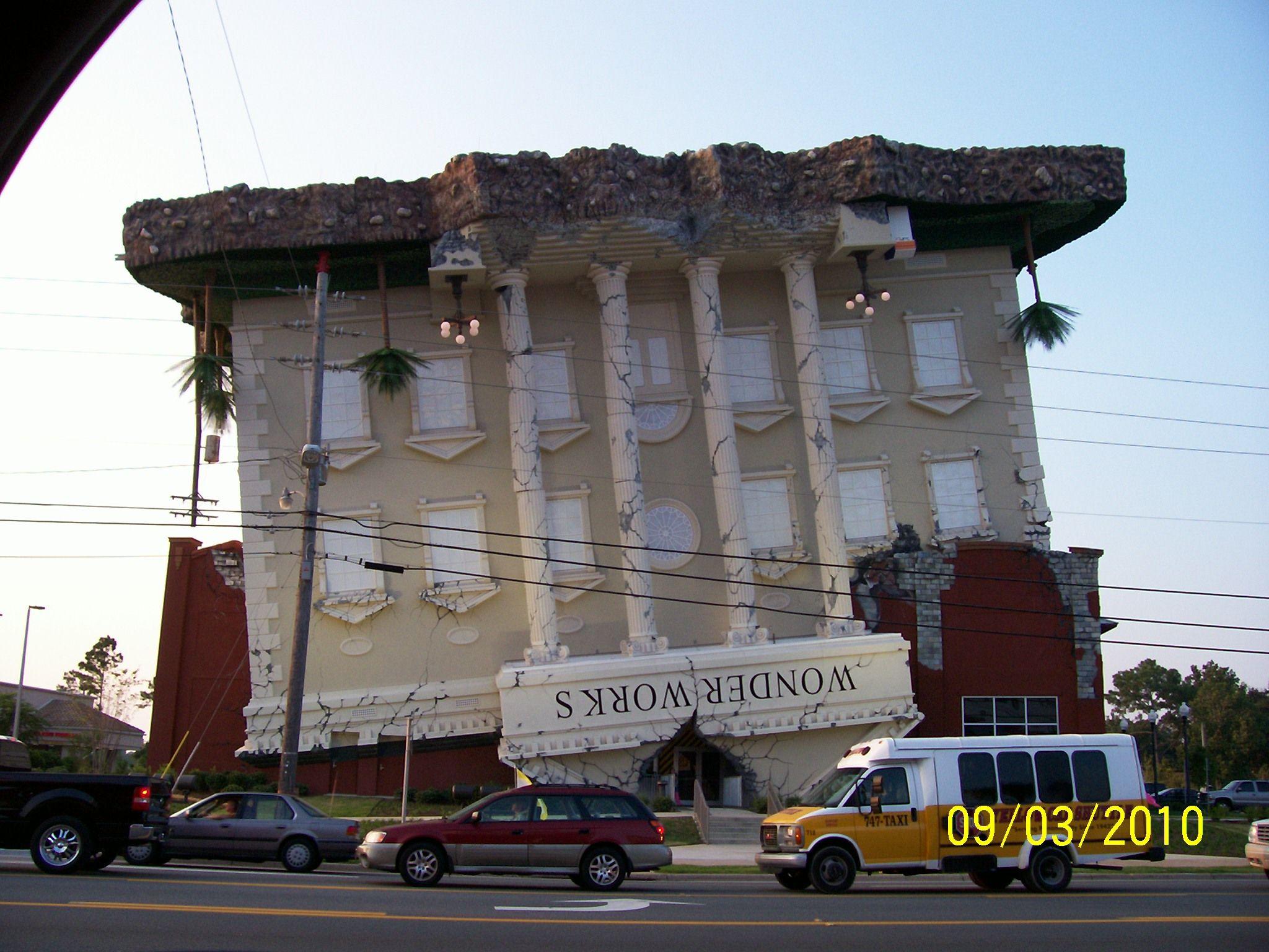 Upside Down Building (Wonder Works) Panama City Florida