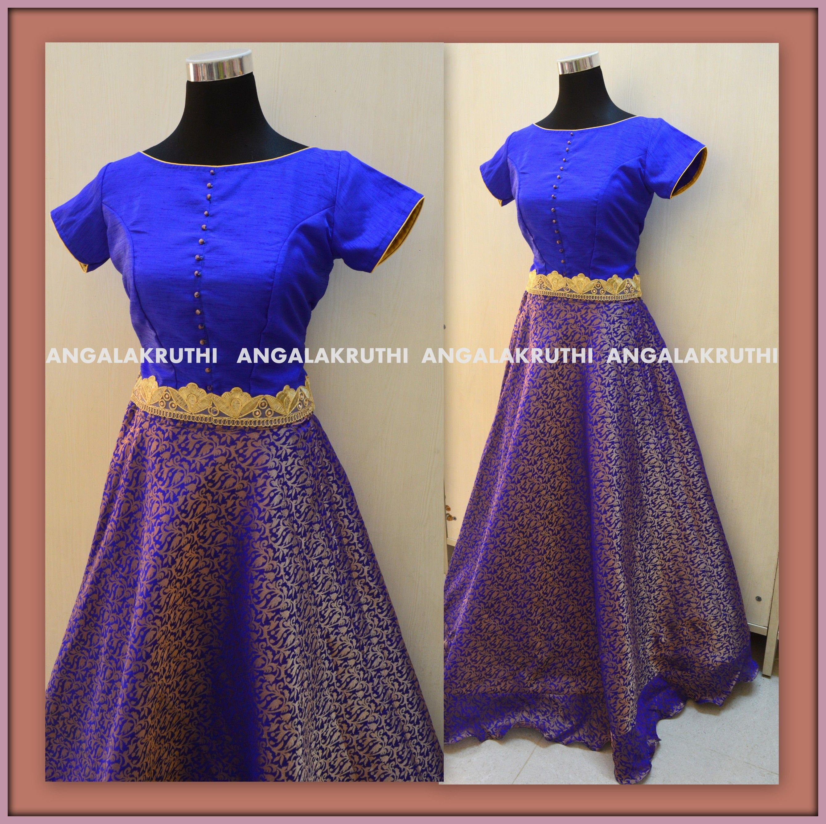 1f00c50796b56 blue Crop top with lehenga by Angalakruthi-Ladies and kids designer  boutique in Bangalore-8884346333