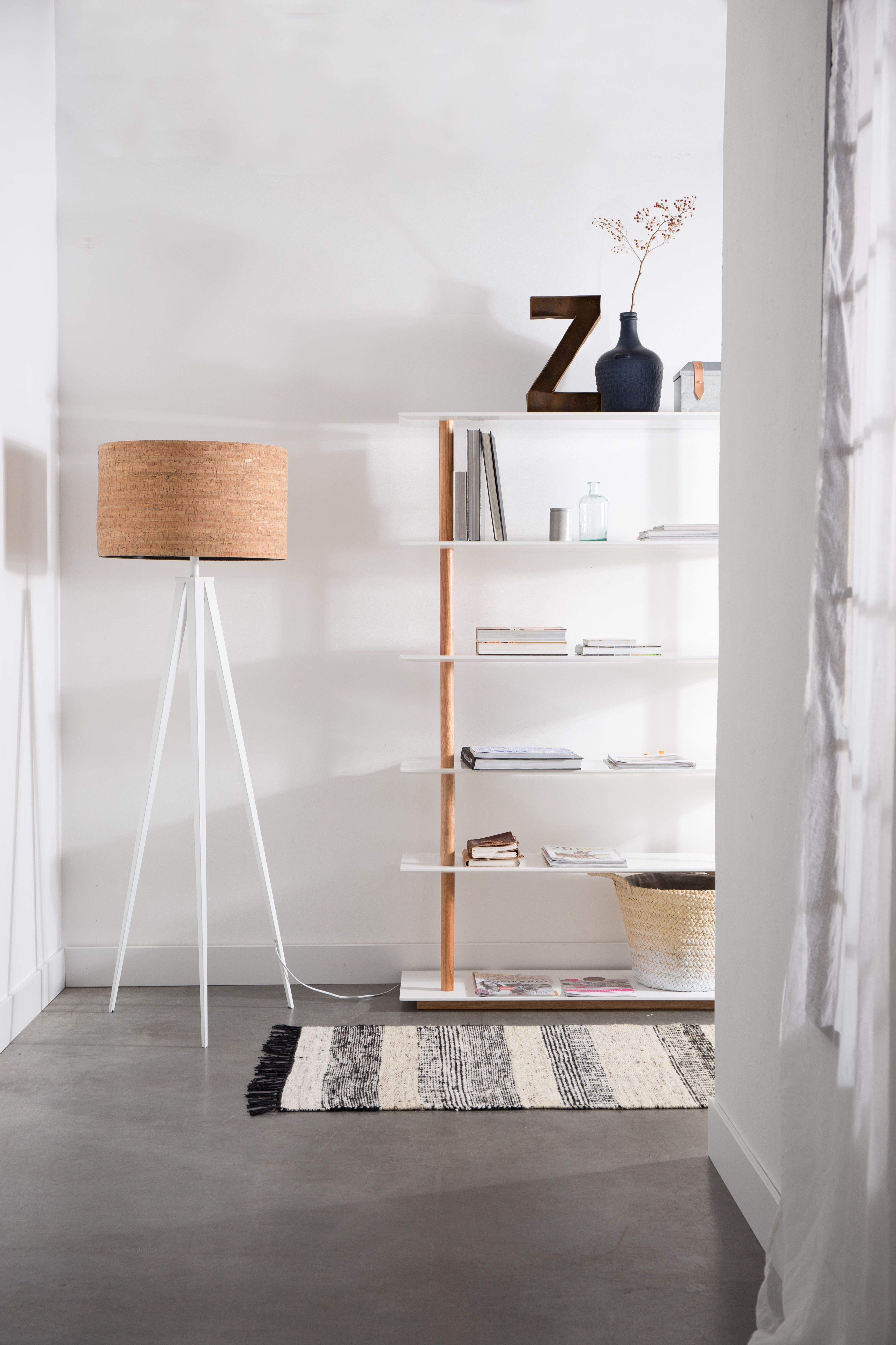 Tripod Cork Floor Lamp Zuiver Cork Flooring Floor Lamp Wooden Shades