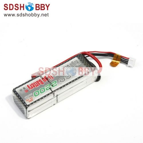 Gens ACE New Design High Quality 2200mAh 25C 3S 11.1V Lipo Battery with T Plug