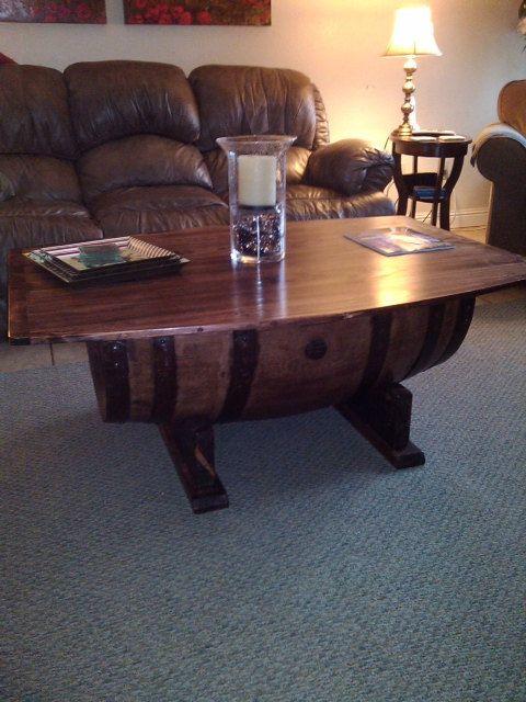 Wine Barrel Coffee Table by WyldatHeartCustoms on Etsy 70000