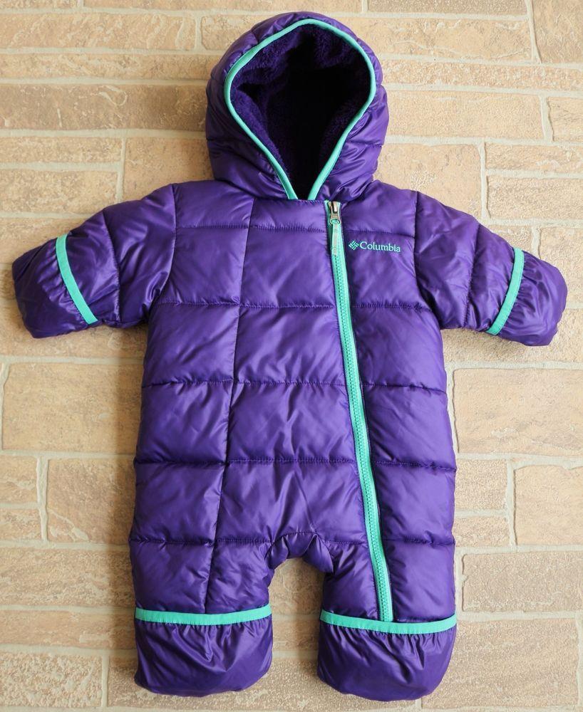 309e06d937b2 Columbia Infant Girls 0 3 M Frosty Freeze Bunting Hyper Purple ...