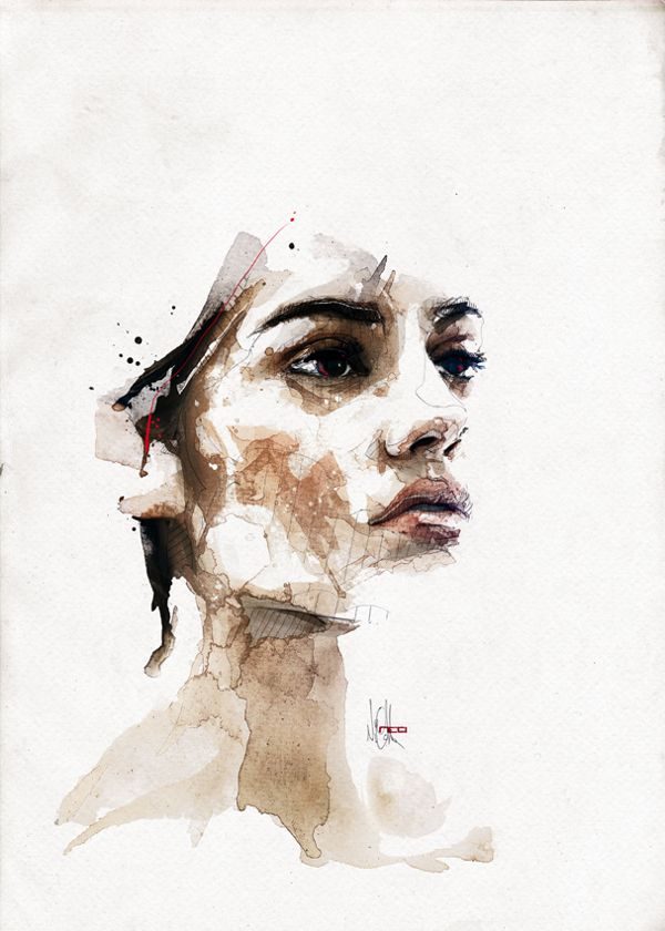 Fashion Portraits By Florian Nicolle Via Behance Akvarelnoe