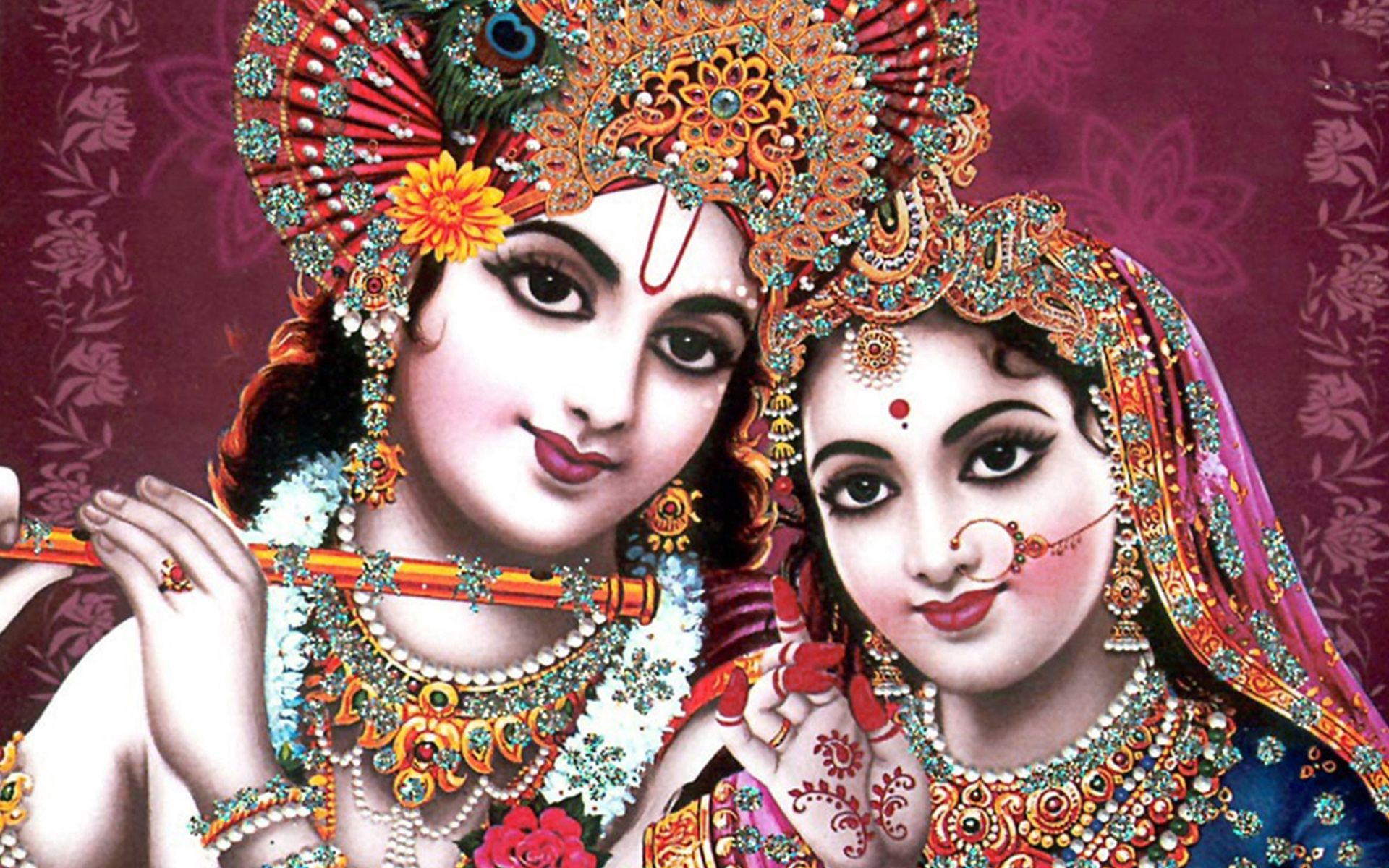 Wallpaper 4k Indian God Radha Krishna Crescent Indian Krishna