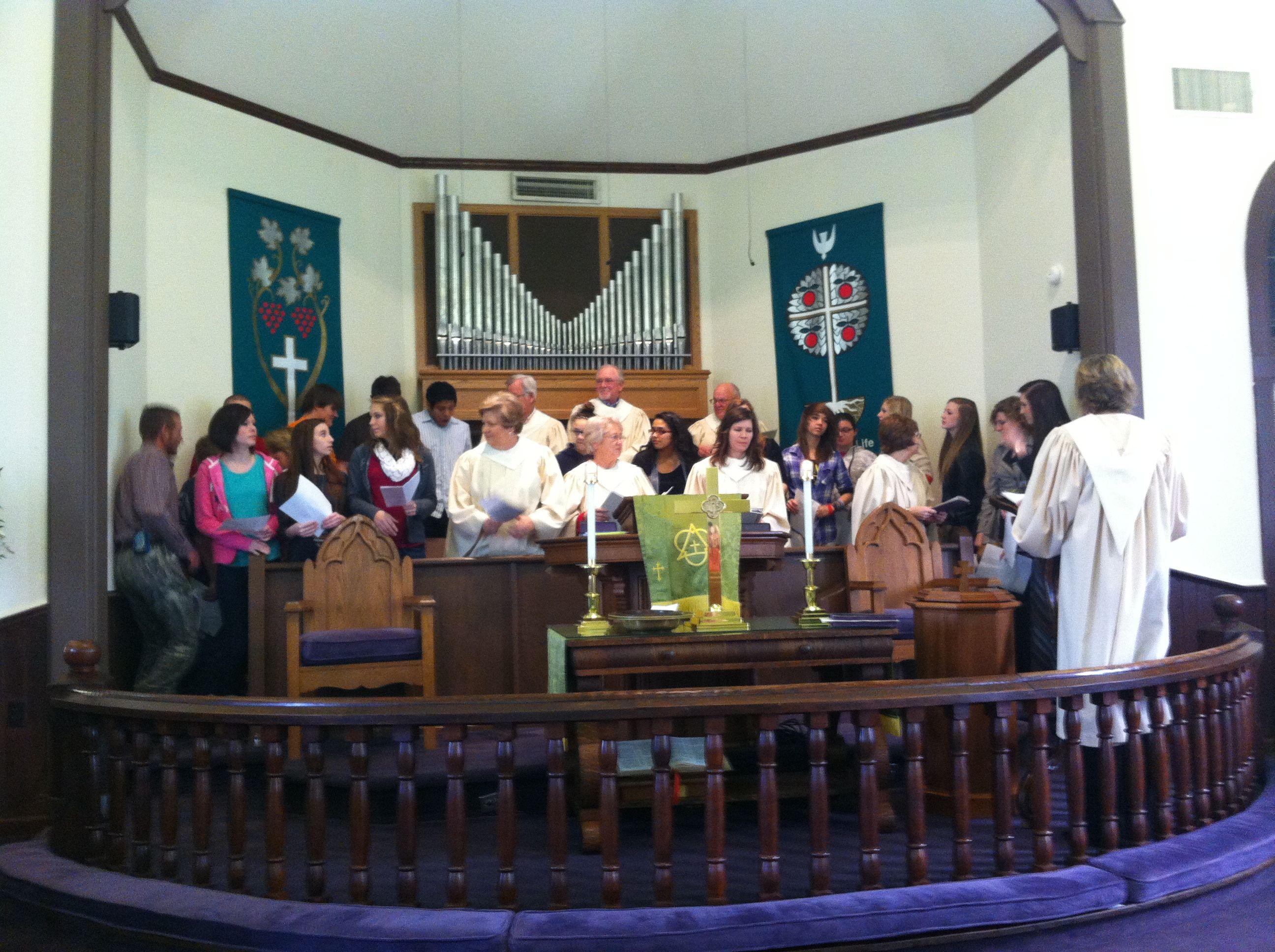 Choir & YOUTH choir joint performance at February 2014
