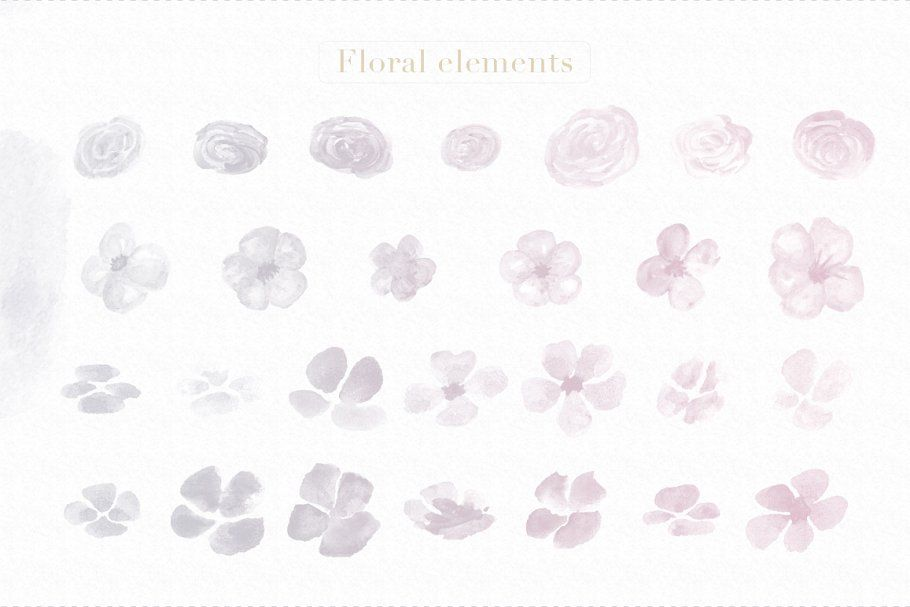 Floral Watercolor Photoshop Brushes Watercolor Floral Brushes