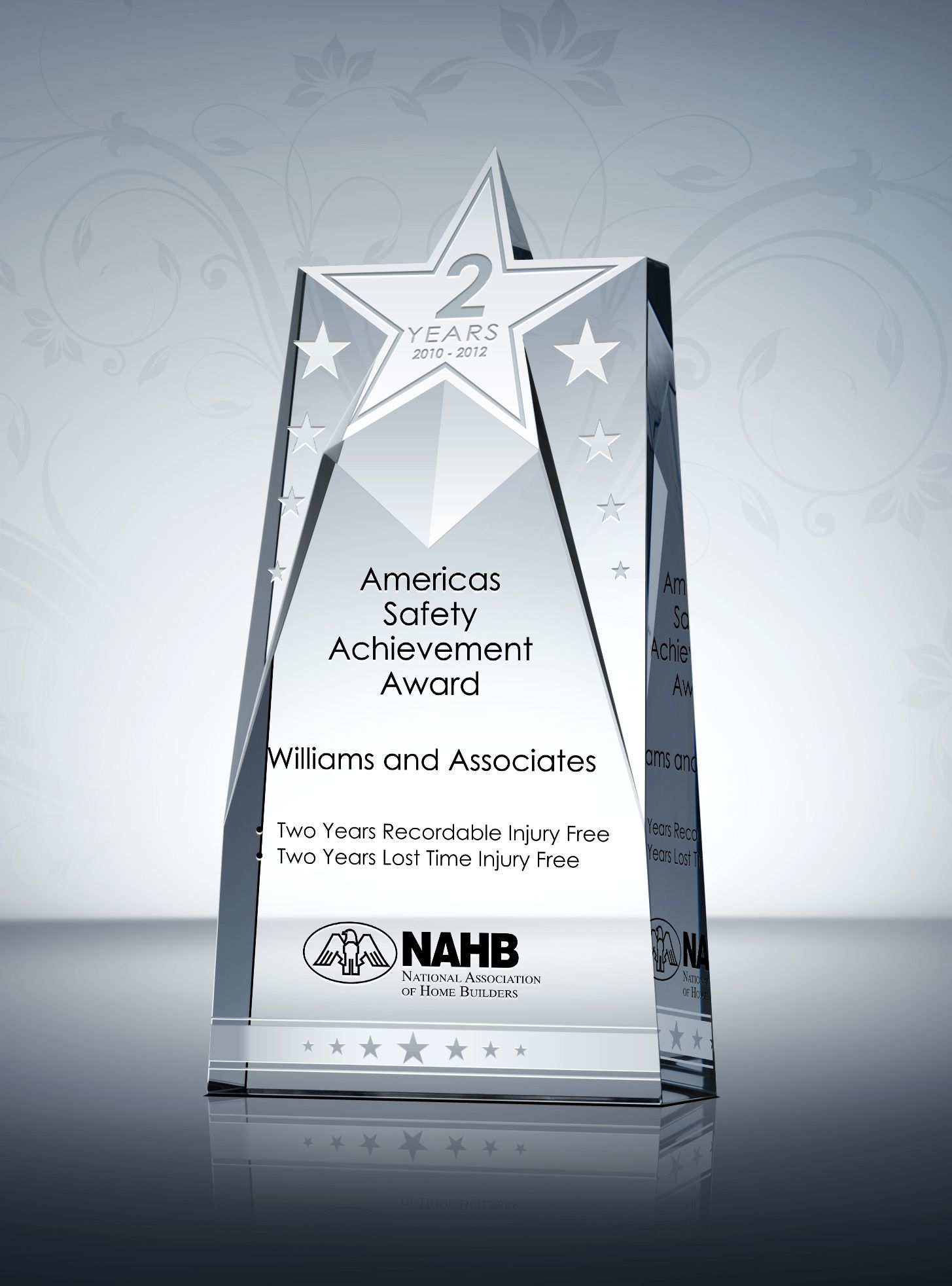 Star Safety Recognition Plaque Sample Wording Ideas – Achievement Award Wording