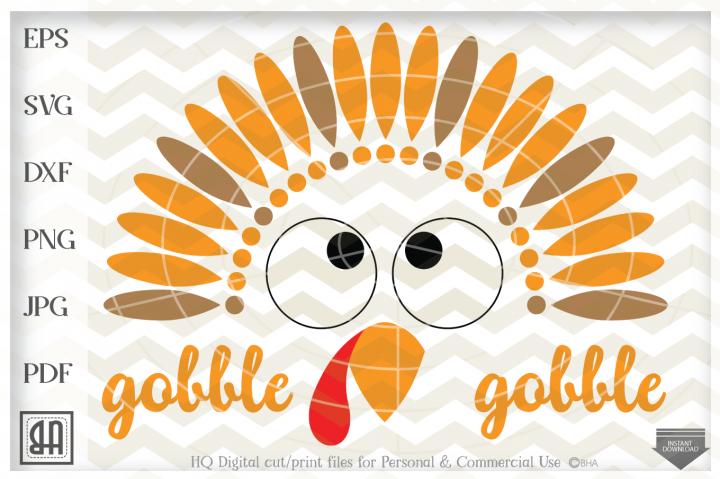 Turkey Face SVG , Turkey SVG File, Thanksgiving SVG