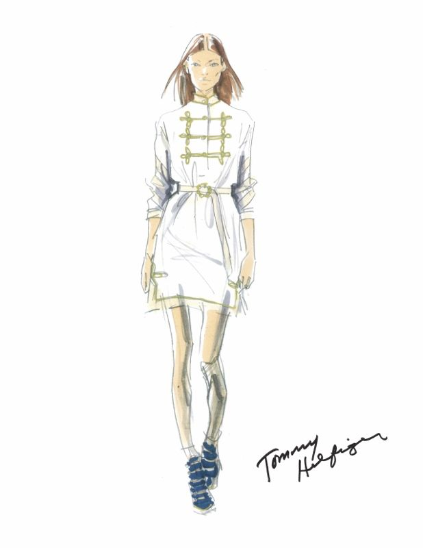 Tommy Hilfiger Womenswear Spring/Summer 2015 - http://olschis-world.de/  #TommyHilfiger #Sketch #SS15 #womenswear