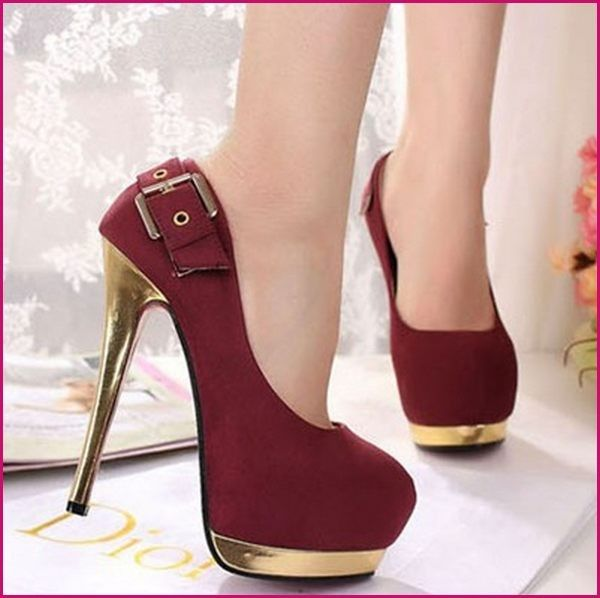 251cbd07458 These high heels 2015 are are very much famous among young girls and women  even there are lots of unique and comfortable designs for the children also  which ...