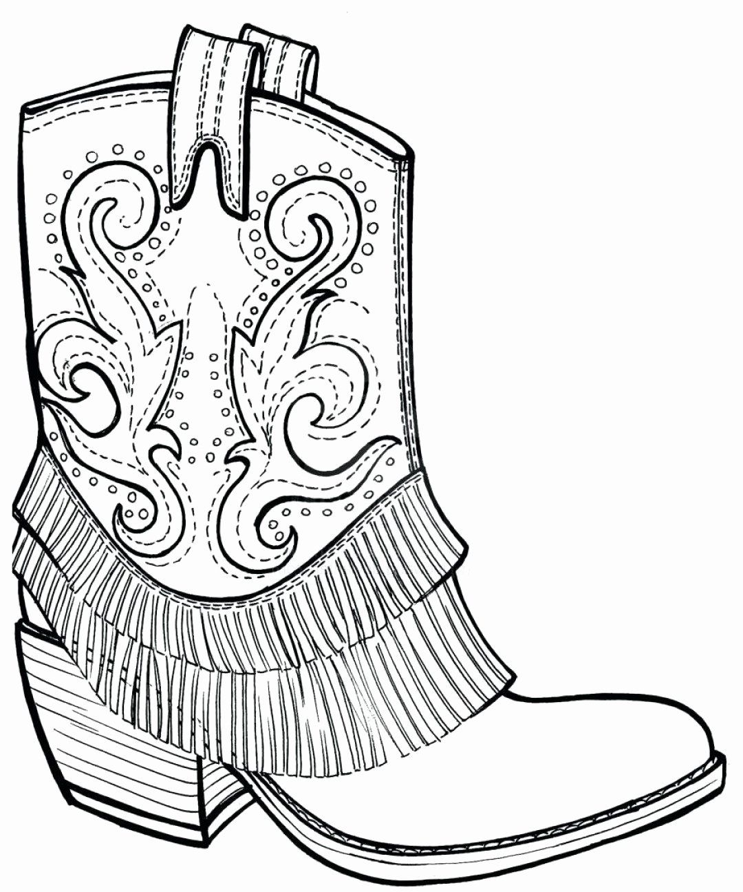 28 Cowboy Boots Coloring Page In 2020 Cowboy Boots Drawing