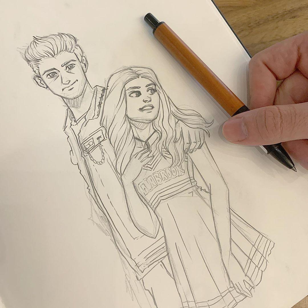 Image May Contain Drawing Zombie Disney Zombie 2 Disney Fan Art