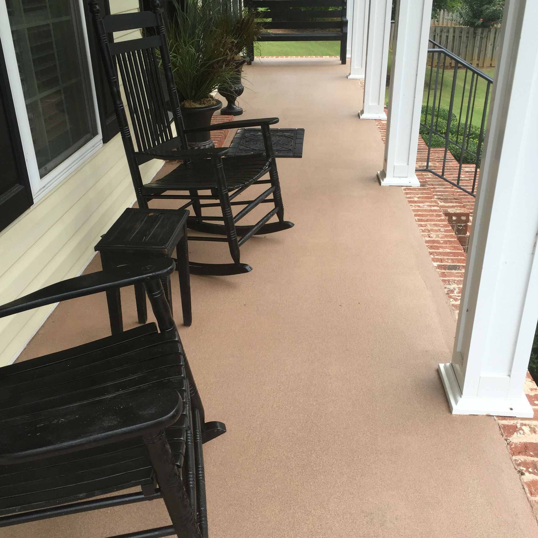 Beautiful Concrete Patio After Painted With Behr Granite Grip Paint