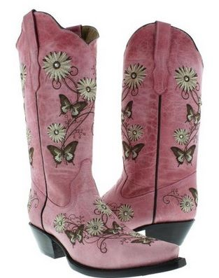 Womens Black Sand Butterfly Inlay Western Boots Leather Cowgirl Rodeo Snip