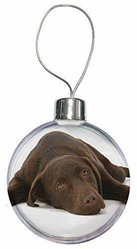 Chocolate Labrador Dog Christmas Bauble Decoration