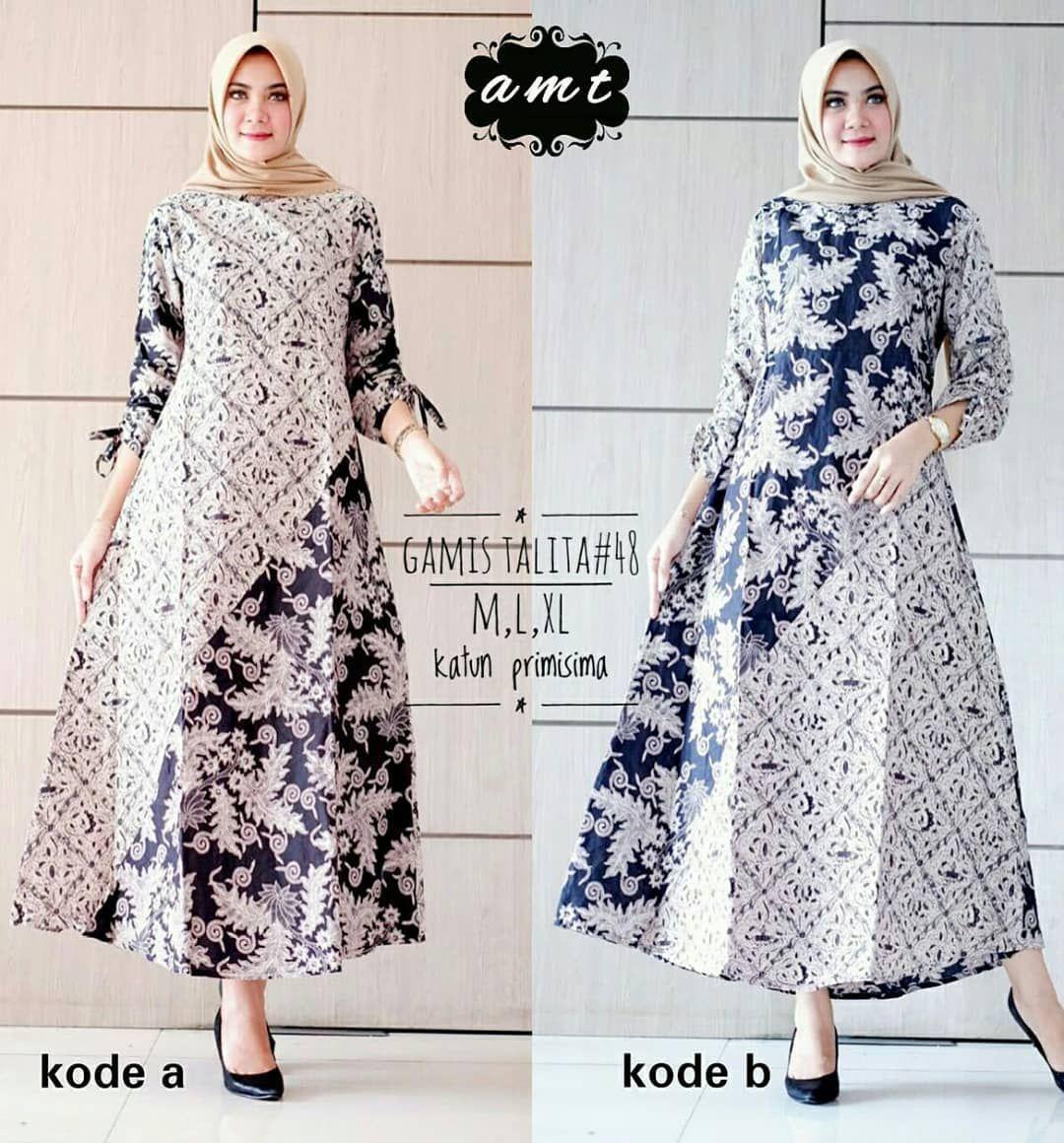 Gamis batik modern  Model pakaian, Pakaian wanita, Model pakaian
