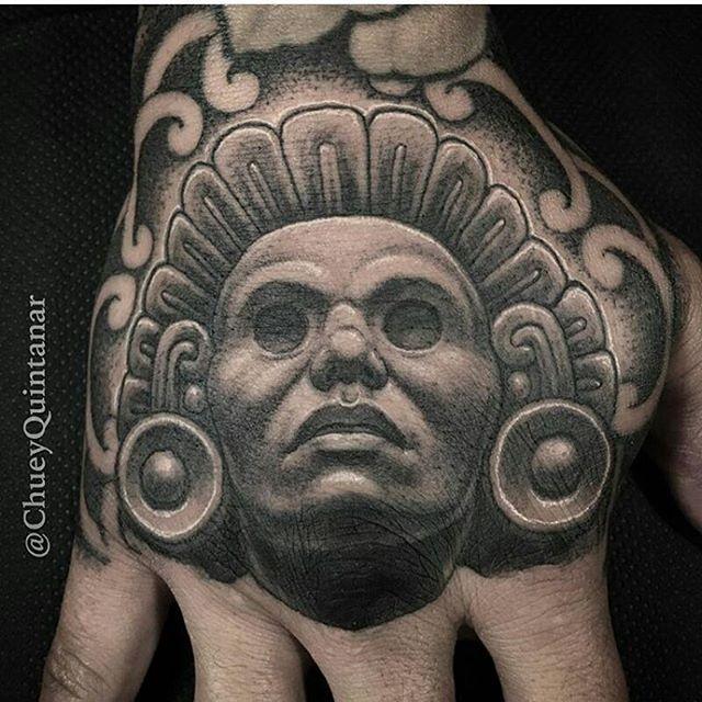 7f06bba0b8dd2 Aztec tattoo by @chueyquintanar #mexicanstyle_tattoos #mexicanculture  #mexstyletats #ink #tattoos #blackandgrey #azteca #aztec #aztectattoo
