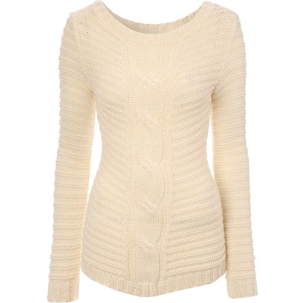 a66682d17a5 Jane Norman Cable Knit Jumper ( 19) ❤ liked on Polyvore featuring tops