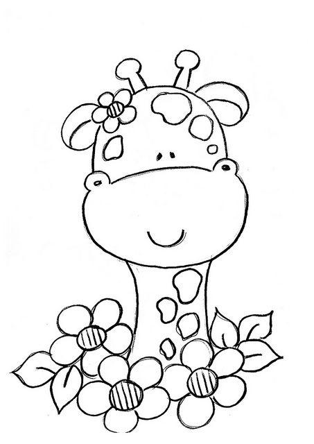 Risco Girafinha Portadas Dibujos Para Colorear Jirafas Para