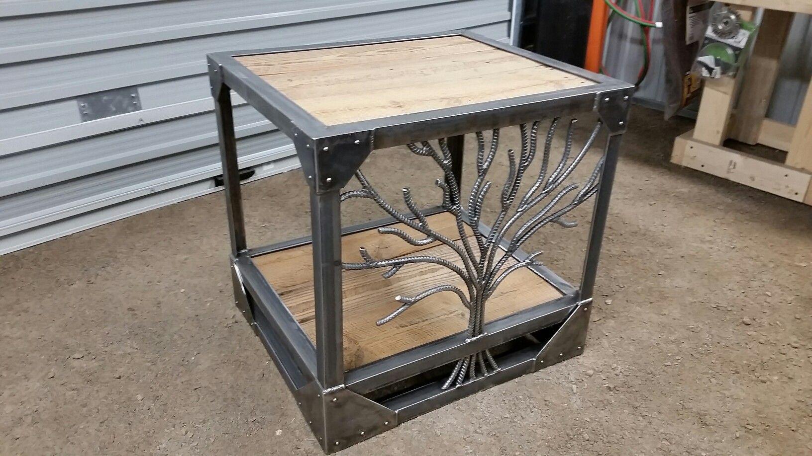 Tree End Table Metal Furniture Steel Furniture Metal Table