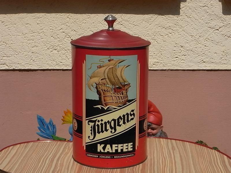 Orig Gebruder Jurgens Kaffee Blechdose Braunschweig Um 1920 Schiff Bild Ebay Blechdosen Alte Dosen Dose
