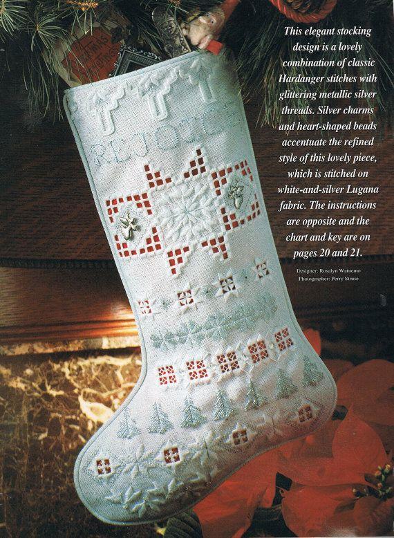 Navidad de Hardanger siembra patrón cruz por BusyBeaverBoutique ...