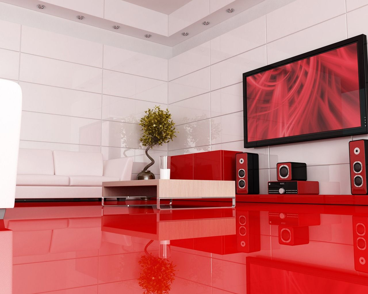 Red Wallpaper Designs For Living Room Red Modern Interior Design Wallpaper Places To Visit Pinterest