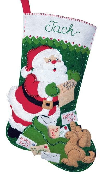 Bucilla felt applique christmas stocking kit letters to santa bucilla felt applique christmas stocking kit letters to santa spiritdancerdesigns